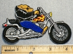 2252 N - Hawg Riding Motorcycle - Embroidery Patch