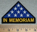 In Memoriam - U.S. Honor Folded Flag - Embroidery Patch