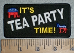 It's Tea Party Time - Embroidery Patch