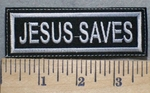 2526 L - Jesus Saves - Embroidery Patch