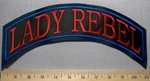 Lady Rebel - Top Rocker - Embroidery Patch
