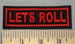 2297 L - Let's Roll - Red - Embroidery Patch