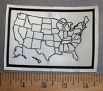 3014 L - Map of United States Fill In For Miles Traveled - Embroidery Patch