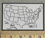 Map of United States Fill In For Miles Traveled - Embroidery Patch