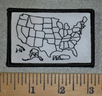 Map Of United States - Fill In For States Traveled - Small Version - Embroidery Patch