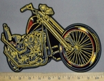 2859 G - Motorcycle - Back Patch - Embroidery Patch