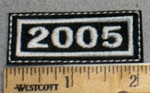 2267 L - Mini Year Patch - 2005 - Embroidery Patch