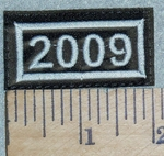 3138 L - Mini Year Patch - 2009 - Embroidery Patch