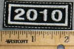 2265 L - Mini Year Patch - 2010 - Embroidery Patch