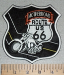Motherroad - Route  US 66 With Motorcycle - Embroidery Patch