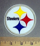 2159 C - Steelers - White - Round - Embroidery Patch