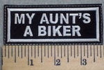 2551 L - My Aunt's A Biker - Embroidery Patch