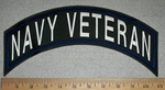 Navy Veteran - Blue - Top Rocker - Embroidery Patch