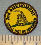 2nd Amendment  Shall Not Be Infringed - Round - Embroidery Patch