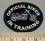 2359 G - Official Biker In Training - Blue - Oval - Embroidery Patch
