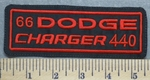 2359 L - 66 Dodge - Charger 440 - Red - Embroidery Patch