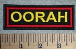 OORAH - Marine War Battle Cry -  Yellow Lettering - Embroidery Patch