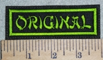 2991 L - Original - Neon Green - Embroidery Patch