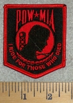 POW - MIA - I Ride For Those Who Died - Red - Embroidery Patch