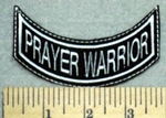 2578 L - Prayer Warrior - Mini Bottom Rocker - Embroidery Patch