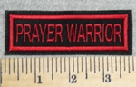 2954 L - Prayer Warrior - Red - Embroidery Patch