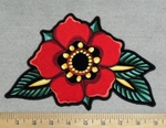 Red Flower Back Patch - Embroidery Patch