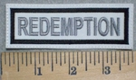 3234 L - Redemption - White Background - Embroidery Patch