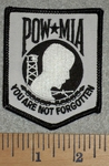 Reflective - POW - MIA - You Are Not Forgotten - Embroidery Patch
