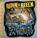 2489 G - Ridin & Reel'n My 2 Favorite Things - Back Patch - Embroidery Patch