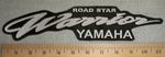 Road Star Warrior Yamaha Back Patch - Embroidery Patch