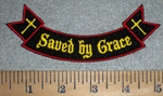 3377 W - Saved By Grace - Mini Rocker - Embroidery Patch