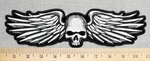 Skull Face With Wings - Back Patch - Embroidery Patch