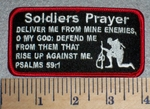 Soliders Prayer Psalms 59:1 - Embroidery Patch