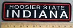 1819 L - HOOSIER STATE - Indiana - Straight Rocker - Embroidery Patch