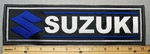 Suzuki With Logo -  11 Inch Straight - Blue -Embroidery Patch