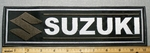 Suzuki With Logo - Brown - 11 Inch Straight - Embroidery Patch
