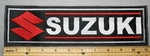 Suzuki With Logo - Red - 11 Inch Straight -  Embroidery Patch