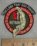 The Land That God Forgot - Round - Map Of Vietnam - Embroidery Patch