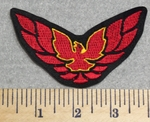 3012 L - Trans Am Firebird Car Logo Smaller Version - Red - Embroidery Patch