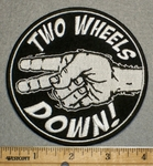 2257 G - Two Wheels Down - Round - Embroidery Patch