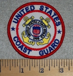 United States Coast Guard - Round - Embroidery Patch