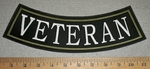 Veteran - Army Green - Bottom Rocker - Embroidery Patch