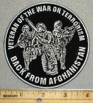 Veteran Of War On Terrorism - Back From Afghanistan - Round - Embroidery Patch
