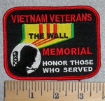 2818 W - Vietnam Veterans The Wall - Memorial - Honor Those Who Served - Embroidery Patch