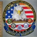 2955 G - We Honor Those Who Protect Our Nation For Our Freedom - American Eagle - All Armed Forces Logo - Back Patch - Embroidery Patch