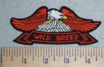 3017 G - Wild Breed Banner With Eagle - Embroidery Patch