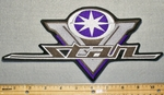 2272 L - Yamaha V Star - Purple - Back Patch - Embroidery Patch