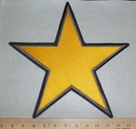 Large Yellow Star - Back Patch - Embroidery Patch