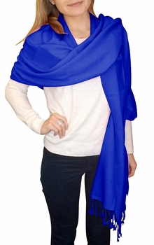 Ultra-Soft 100% Cashmere Wrap (Blue)