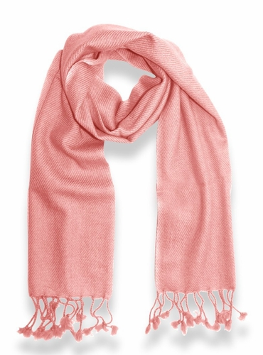 Classic Solid 100% Cashmere Scarf (Baby Pink)
